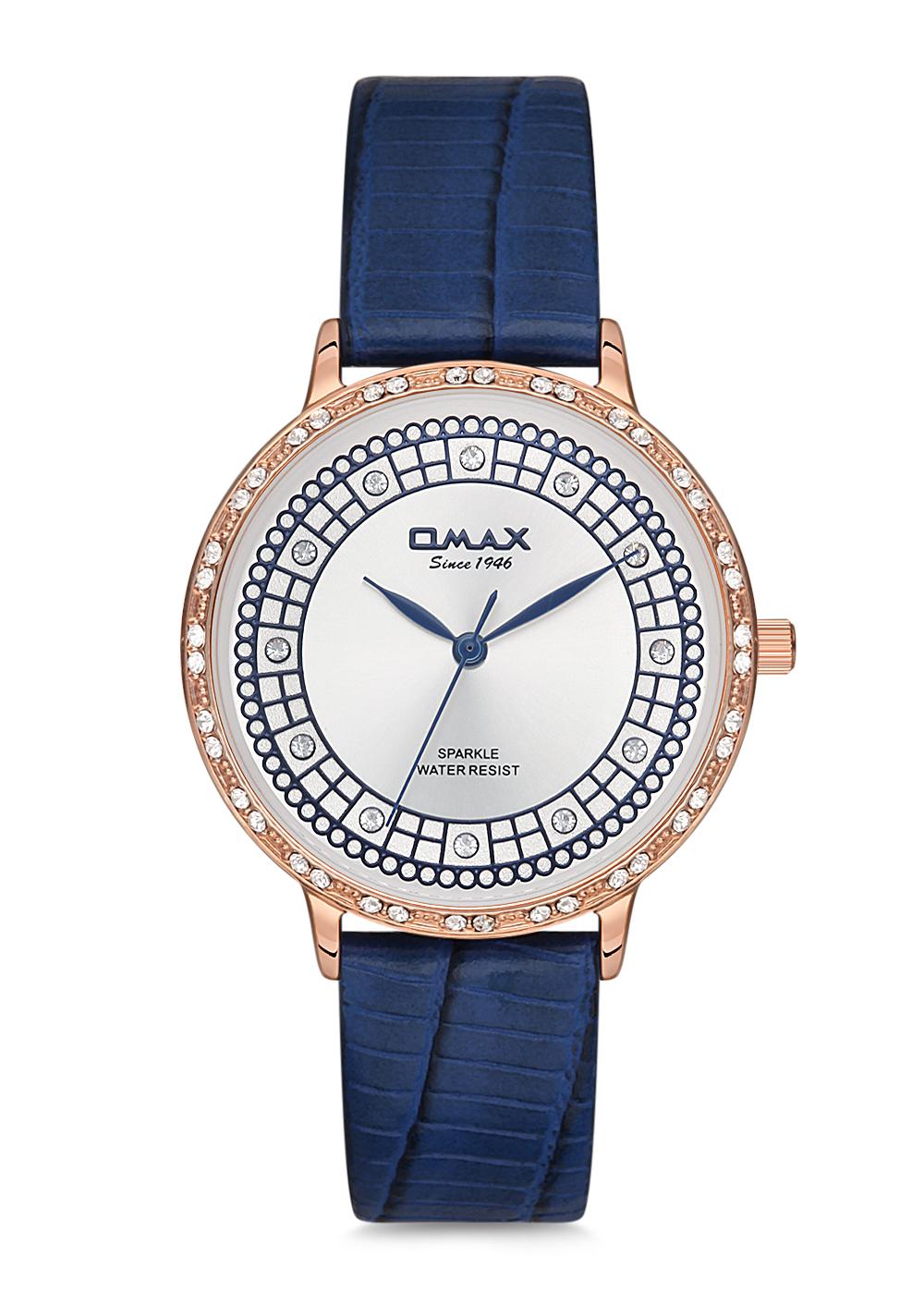 Omax Women Leather Strap Wrist Watch SPL01R44l